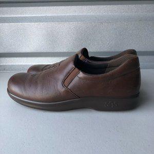 SAS Viva Slip On Loafers Teak Brown Leather 7